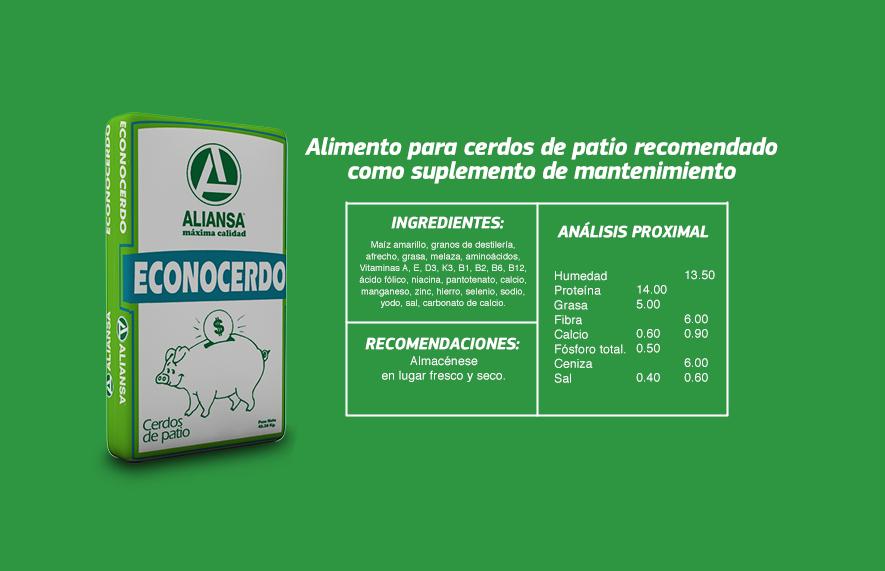 Cerdo concentrados aliansa for Tabla de alimentacion para tilapia roja